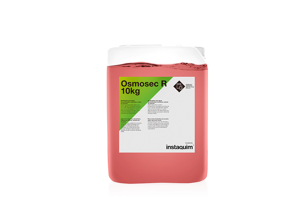 Osmosec R, Abrillantador para aguas descalcificadas y osmóticas, control de espumas