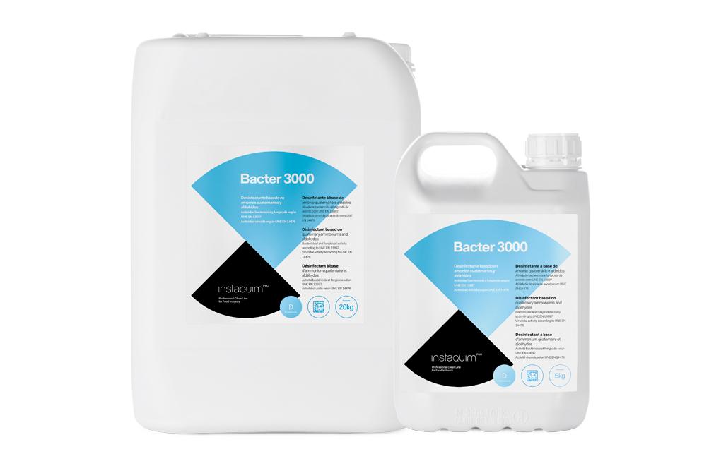 Bacter  3000, Desinfectant amb amonis quaternaris i aldehids