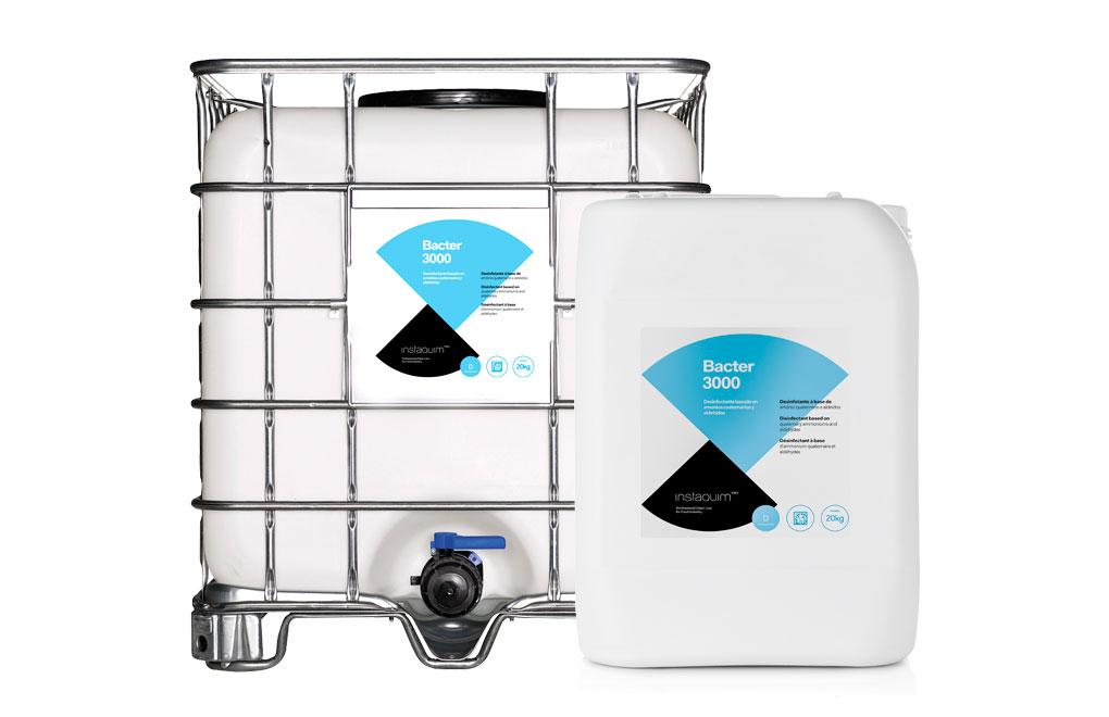 Bacter 3000, Desinfectant amb amonis quaternaris i aldehids per la indústria alimentària