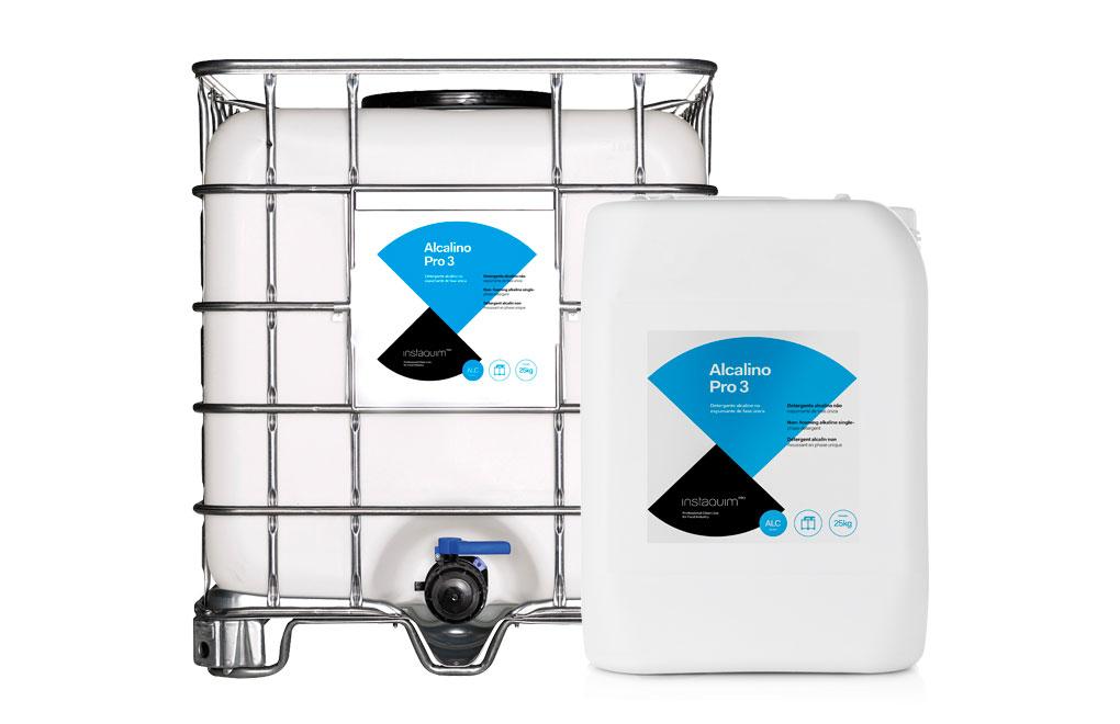 Alcalino Pro 3, Detergent alcalí no espumant de fase única