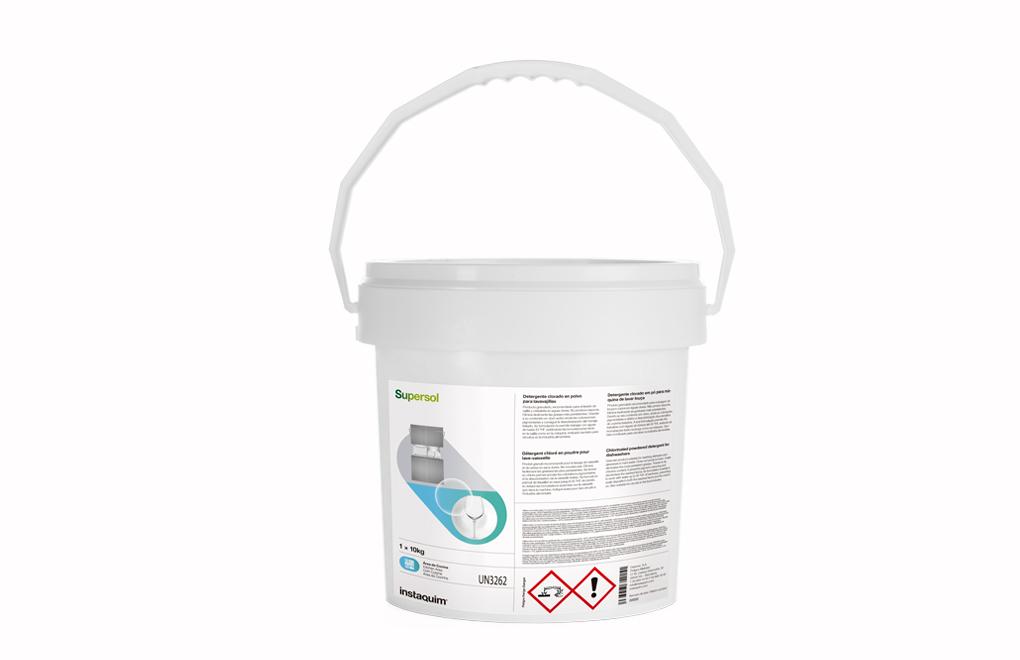Supersol, Chlorinated powdered detergent for dishwashers