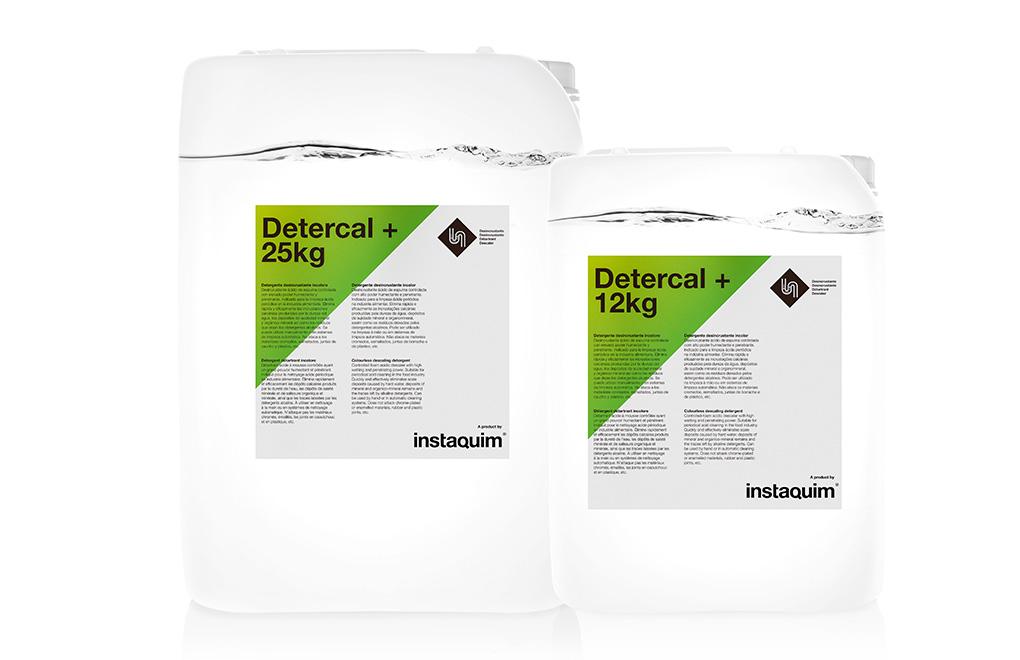 Detercal +, Detergente desincrustante incoloro