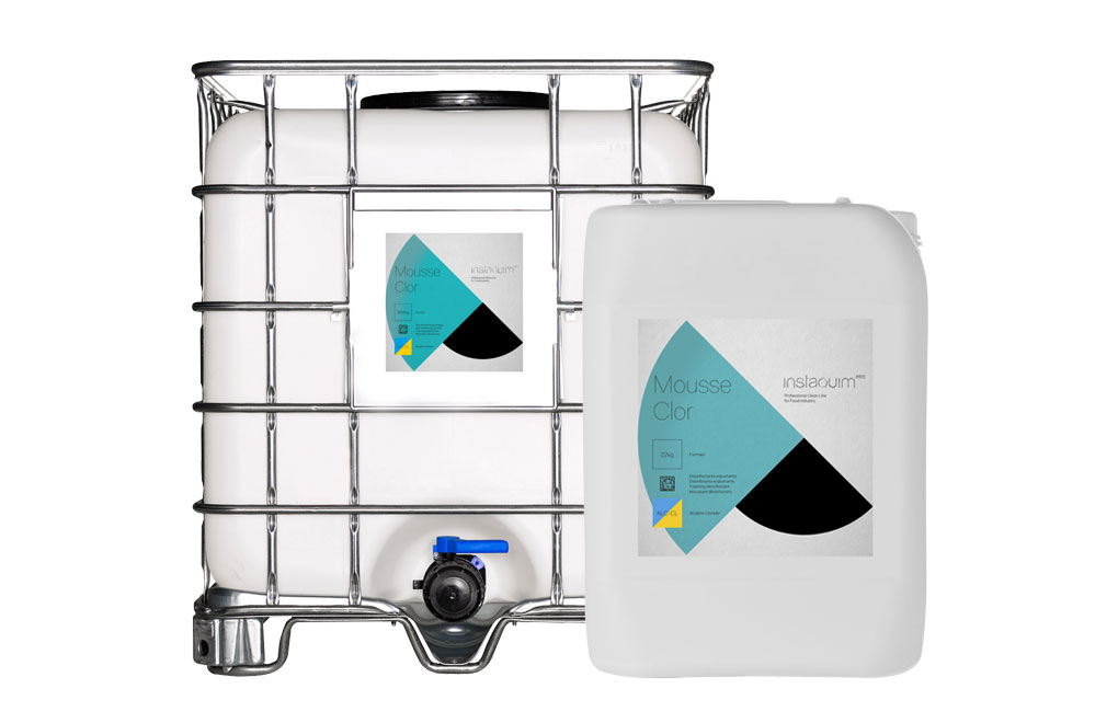 Mousse Clor, Detergente desinfectante alcalino clorado