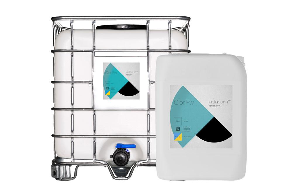 Clor Fw, Detergente desinfectante alcalino clorado no espumante