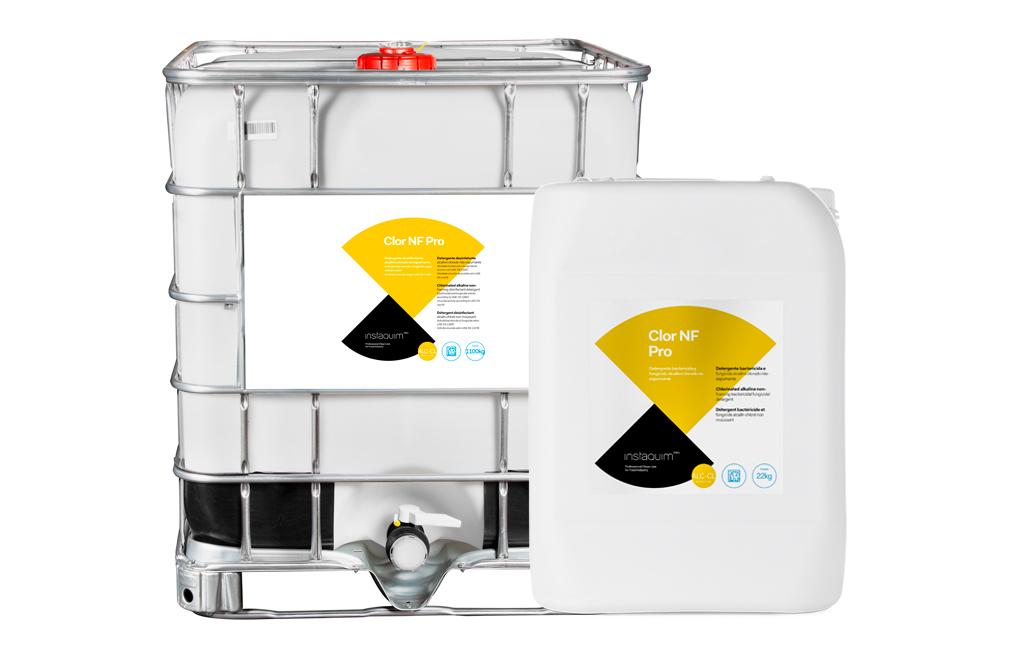 Clor NF Pro, Detergente desinfectante alcalino clorado no espumante para la industria alimentaria