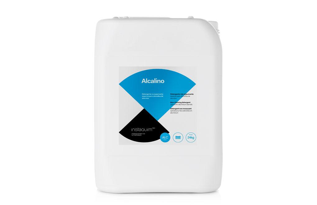 Alcalino, Détergent non moussant spécial pour les ustensiles en aluminium