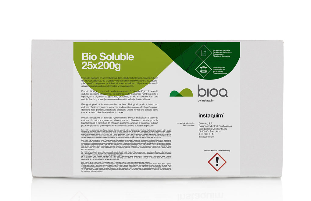 Bio soluble, Biological product in water-soluble sachets