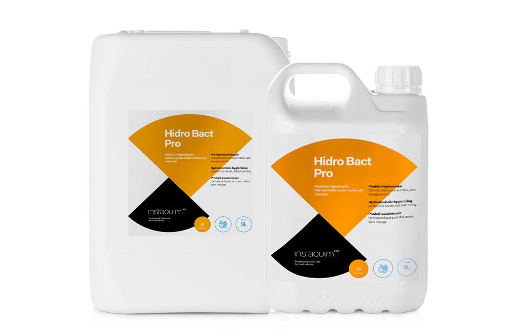Hidro Bact Pro, Producto higienizante hidroalcohólico para manos, sin aclarado